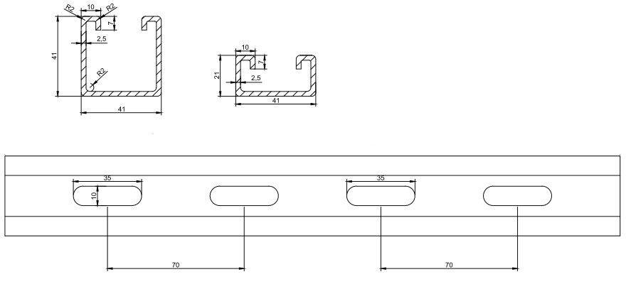 drawing-solar-panel-mounting-bracket-roll-forming-machine
